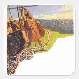 Aesir and Vanir Square Sticker
