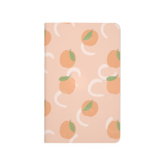 Aesthetic Peach Pink Pattern Notebook