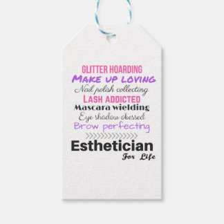 Aesthetician for life gift tags