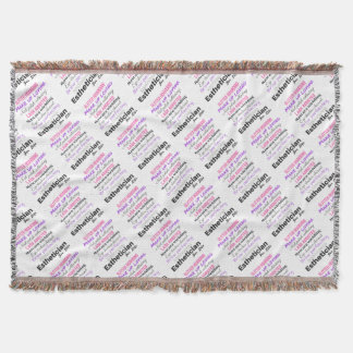 Aesthetician for life throw blanket