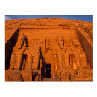 AF, Egypt, Abu Simbel. Facade at sunset, Great Postcard