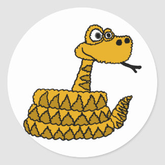 AF- Funky Rattlesnake Cartoon Round Sticker