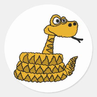 AF- Funky Rattlesnake Cartoon Stickers