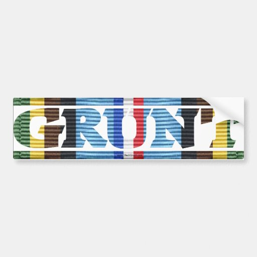 AFEM GRUNT Campaign Ribbon Bumper Stickers