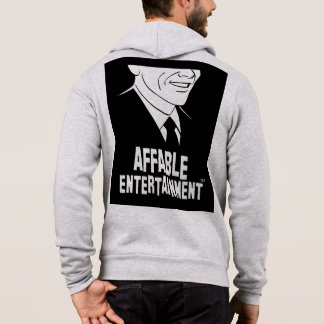 Affable Logo Man Zipped Hoodie