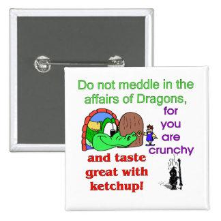 Affairs Of Dragons 15 Cm Square Badge