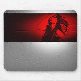 Affected A dramatic photograph of the woman Mouse Pad