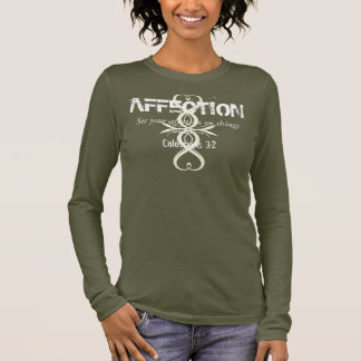 AFFECTION Bible Verse Heart Cross Long Sleeve Tee