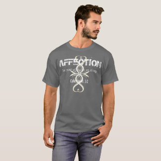 AFFECTION Colossians 3:2 Bible Verse Cross T-Shirt