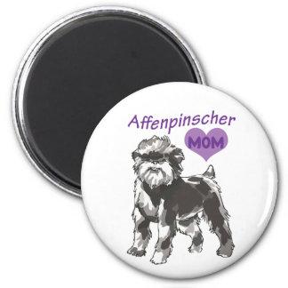 Affenpinsche mom Magnets