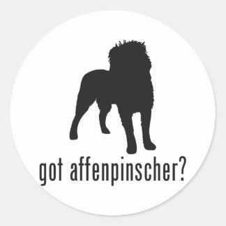 Affenpinscher Classic Round Sticker