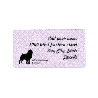 Affenpinscher Lavendar Weave Address Label