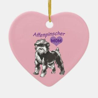 Affenpinscher mom ornament