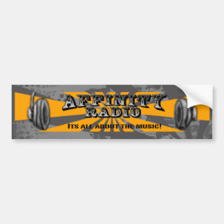 Affinity Radio Bumper sticker Grey