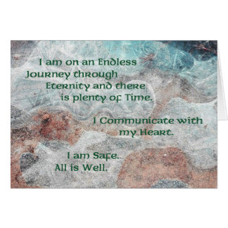 Affirmation Card for the Healing of Nervous Energy
