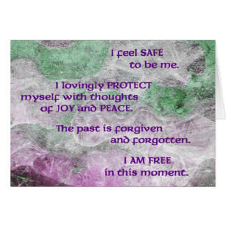 Affirmation Card for the Healing of Skin Problems