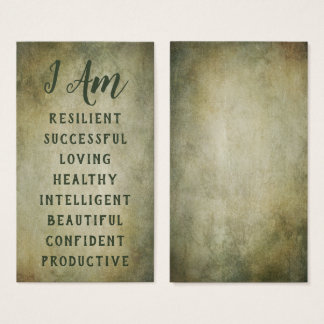 Affirmation Cards: Choose Your 8 Positive Messages Business Card