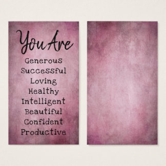Affirmation Cards: Choose Your Own Positive Words Business Card