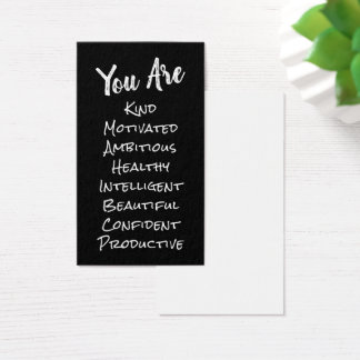 Affirmation Cards w/ a List of Positive Words