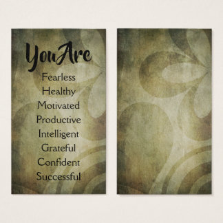 Affirmation Statement Cards: Personalize & Share Business Card