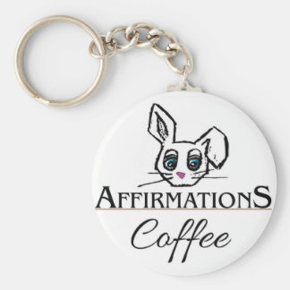 Affirmations Coffee Key Chain