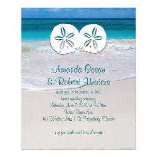 Affordable Beach Wedding Sand Dollar Invitations Flyer