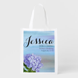 Affordable Blue Hydrangea Bridesmaid Tote Bag