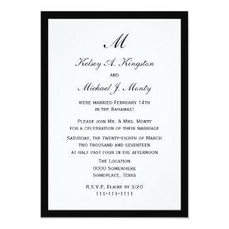 Affordable Budget Post Wedding Reception White 13 Cm X 18 Cm Invitation Card