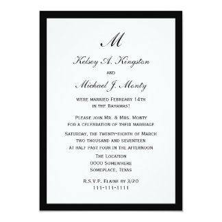 Affordable Budget Post Wedding Reception White Card