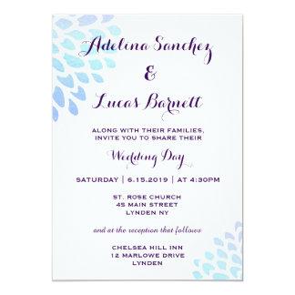 Affordable, Elegant Hydrangea Wedding Invitation