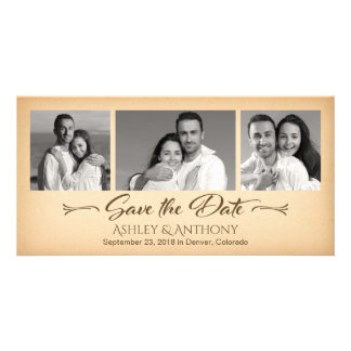 Affordable Photo Collage Wedding Save the Date Card