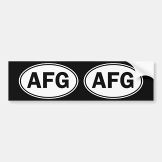 AFG Oval ID Bumper Sticker
