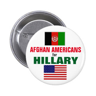 Afghan Americans for Hillary 2016 6 Cm Round Badge