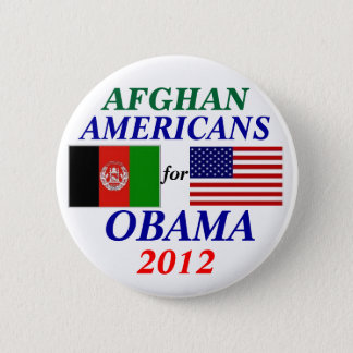 Afghan americans for Obama 6 Cm Round Badge