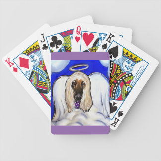Afghan Hound Angel Bicycle Playing Cards