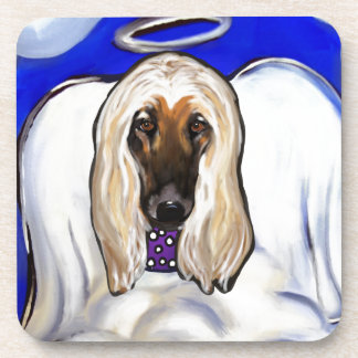 Afghan Hound Angel Coaster