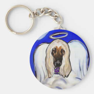 Afghan Hound Angel Key Ring
