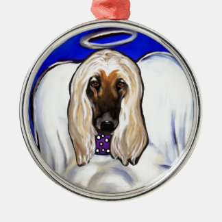 Afghan Hound Angel Metal Ornament