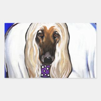 Afghan Hound Angel Rectangular Sticker