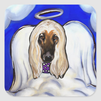 Afghan Hound Angel Square Sticker