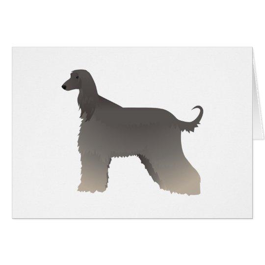 Afghan Hound Basic Breed Silhouette Card