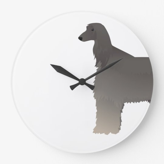 Afghan Hound Basic Breed Silhouette Large Clock