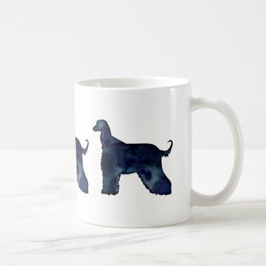 Afghan Hound Black Watercolor Silhouette Coffee Mug
