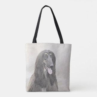Afghan Hound (Brown) Tote Bag