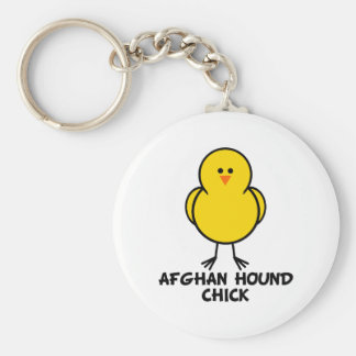 Afghan Hound Chick Key Ring