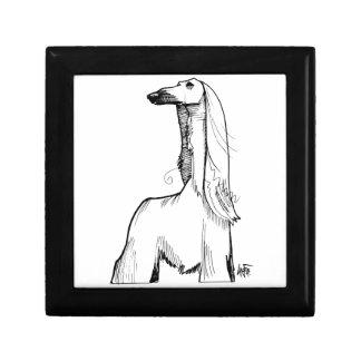 Afghan Hound Gesture Sketch Gift Box