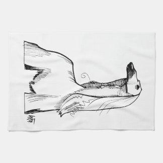 Afghan Hound Gesture Sketch Tea Towel
