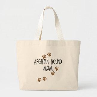 Afghan Hound Mom Large Tote Bag
