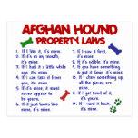 Afghan Hound Property Laws 2 Postcard