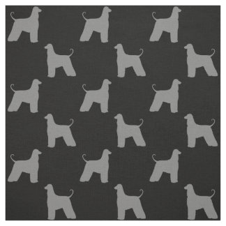Afghan Hound Silhouettes Pattern Fabric